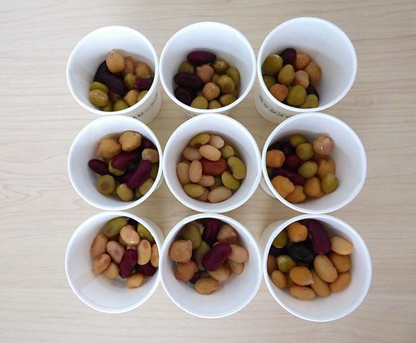 ミックス豆9種類の中身を比較