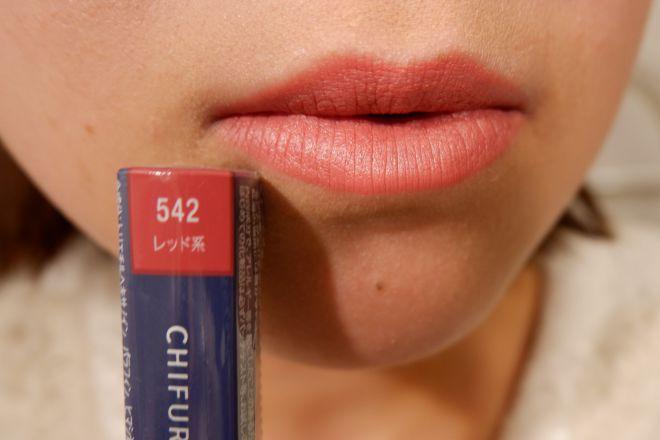 542唇に塗布