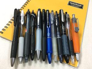 油性ボールペン12種類比較