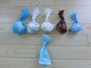 テスト2:袋の結びやすさを比較してみる