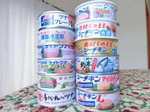 ツナ缶のタワー