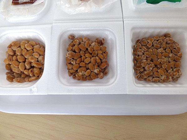 豆の大きさ比べた
