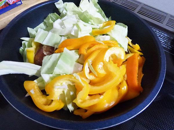 野菜と一緒に炒めてみました