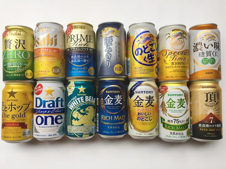 【新ジャンルビールおすすめ比較】アサヒのどごし生・サントリー金麦等14種類を飲み比べた