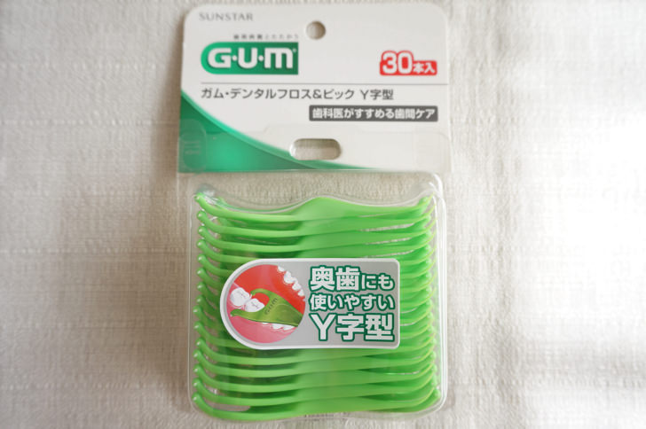 GUM デンタルフロス&ピックY字(サンスター)