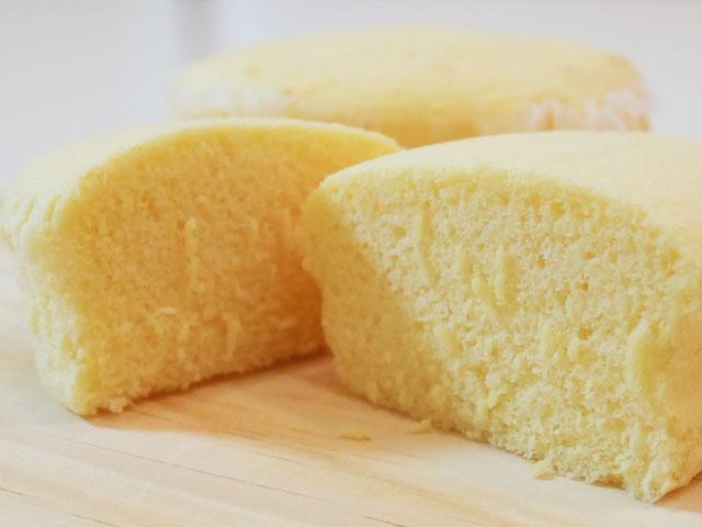 lローソン ブランのチーズ蒸しケーキ 断面
