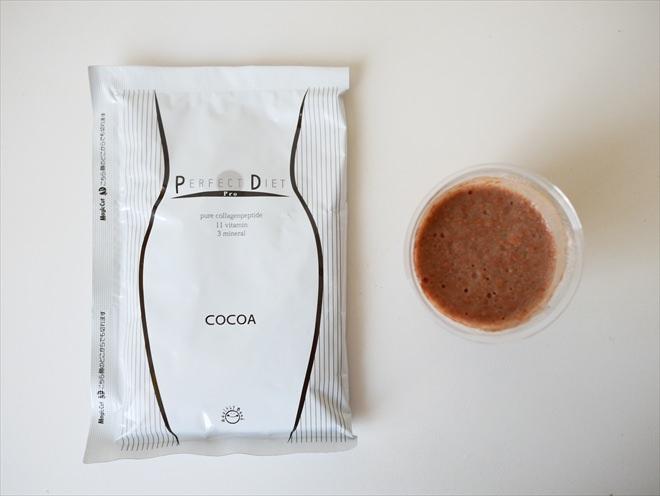 美容液ダイエットシェイクのココア味