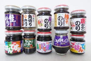 桃屋 海苔の佃煮(ごはんのおとも)10種比較