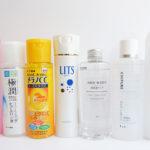 プチプラ化粧水7種類を徹底比較
