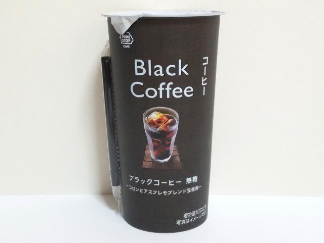 ブラックコーヒーミニストップ表面