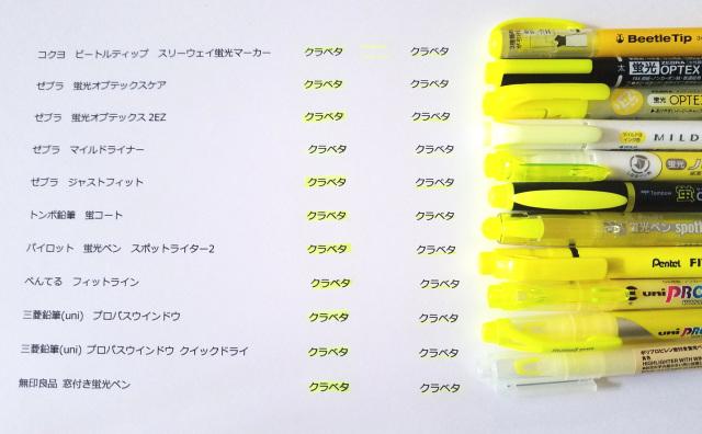蛍光ペン全体比較