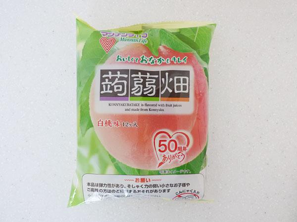 マンナンライフ 蒟蒻畑 白桃味