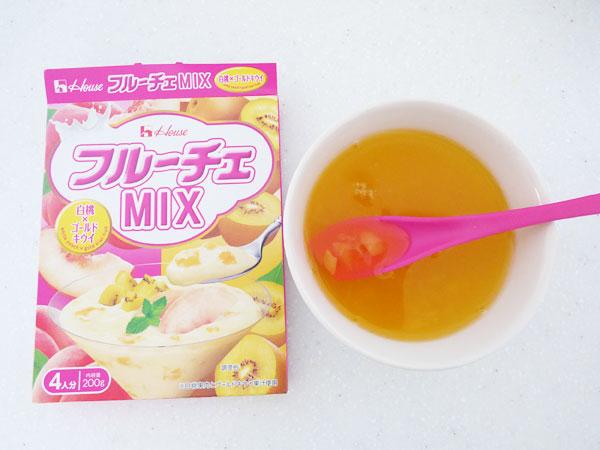 フルーチェMIX <白桃×ゴールドキウイ>