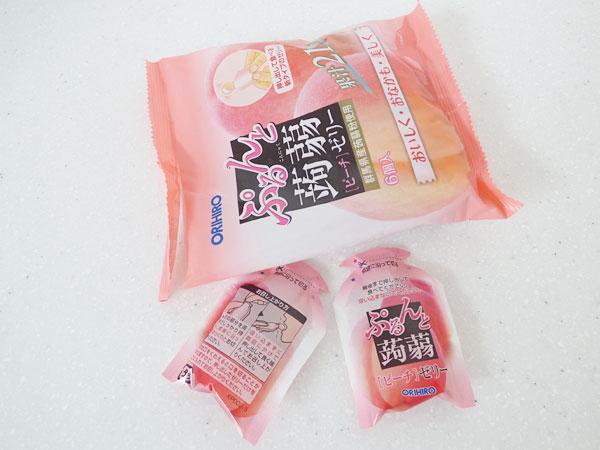 オリヒロ ぷるんと蒟蒻ゼリーパウチ ピーチ