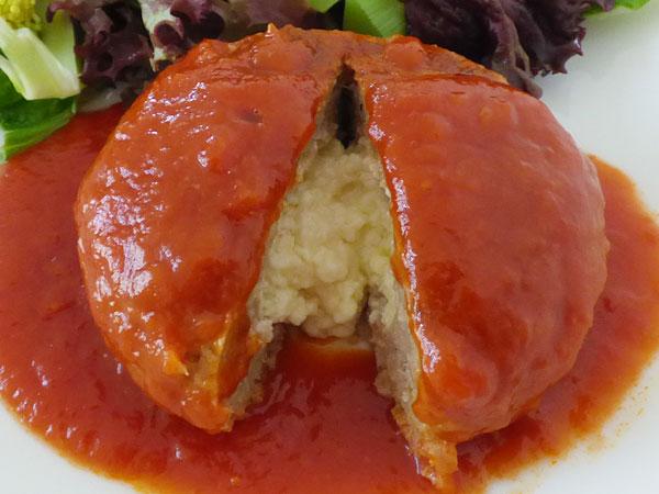 チーズとろける粗挽きハンバーグ