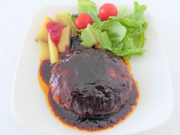 肉汁じゅわっ!粗挽きハンバーグ