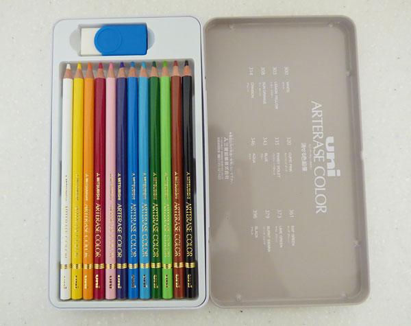 三菱鉛筆 消せる色鉛筆 ユニアーテレーズカラー12色
