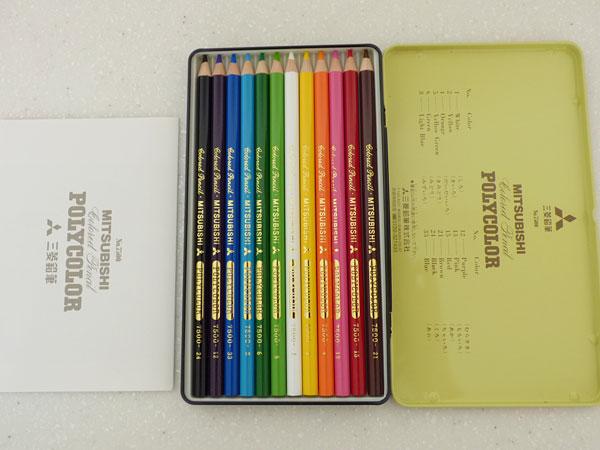 三菱鉛筆 色鉛筆 ポリカラー12色