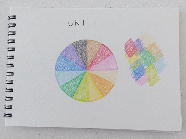 三菱鉛筆 UNI色鉛筆880 12色